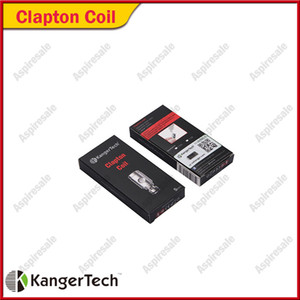 Kanger Clapton Bobinas 0.5ohm SSOCC SUS SS316L Bobinas Substituir Clapton Cabeça Da Bobina Para Subvod Kit Subtank Mini 100% Original