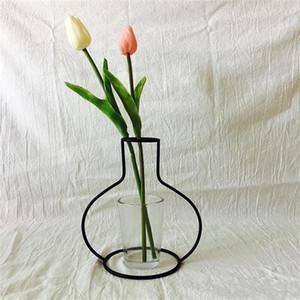 Pratique Stand Vase De Fer Pour Nuptiale Table Centre De Table Décorations DIY Pot De Fleurs Sans Verre Jardiniere Rack Facile Carry 10ld cc