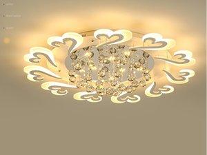 간결한 분위기 북유럽 거실 램프 LED 천장 램프 따뜻한 로맨틱 한 침실 아크릴 크리 에이 티브 램프 LLFA