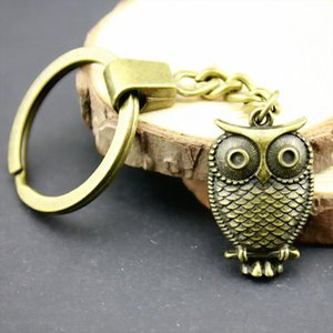 6 Pieces Key Chain Women Key Rings Fashion Keychains For Men Owl 28x18mm