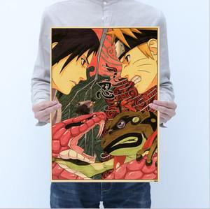 vendita calda di alta qualità Poster marrone Naruto Totoro One Piece Pinup anime per la casa e la carta marrone business One Piece about50 * 35cm