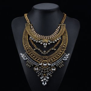 New Exaggeration Vintage Strass Big Collane Pendenti Collane Bohemian Statement Collane Accessori moda