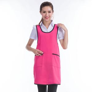 Neue Design Home Küche Kochschürze Kleid Restaurant Chef Sleeveless Kellnerin Schürzen Reinigungsschürze Für Frauen 5 farben