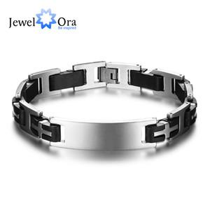 225 мм крест объемного нержавеющей стали мужчины браслет мода ювелирные изделия классические браслеты браслеты браслеты (JewelOra BA101588)