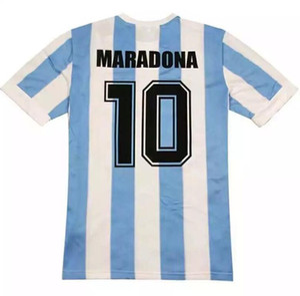 Tayland Kalite 1986 Dünya Kupası Retro Arjantin formaları MESSI Batista Maradona Ev Futbol forması Ruggeri Clausen Enrique futbol forması
