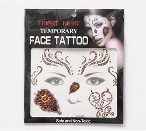 испуг ночь лицо глаз татуировки временные татуировки наклейки водонепроницаемый самоклеющиеся вставить Хэллоуин костюм косплей партии макияж боди-арт