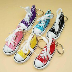 3D Sneaker Portachiavi Scarpe di tela Portachiavi Scarpe da tennis Mandrini Portachiavi Portachiavi Ciondolo borsa Bomboniere MOQ 200 pz