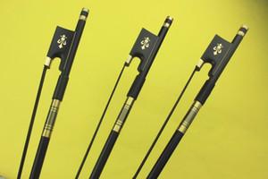 3pcs New professional 4 4 Carbon fiber violin bow black horse hair Ebony frog