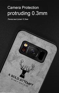 Fabric Cloth Deer Batman Phone back Cover Case For Samsung S9 A8 A6 plus J7 J5 J3 pro Note 9 Vintage Patterned Fashion Cute