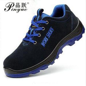Chaussures de sécurité pour hommes au travail en acier, chaudes, respirantes, bottes décontractées, anti-piqûres, chaussures d'assurances, de grande taille 35 --- 50