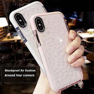 Top quality Per iPhone X XS XS MAX XR Custodia per iPhone 7/8 Hybrid Shockproof Clear Custodia in silicone morbido + Custodie in vetro temperato per telefoni cellulari