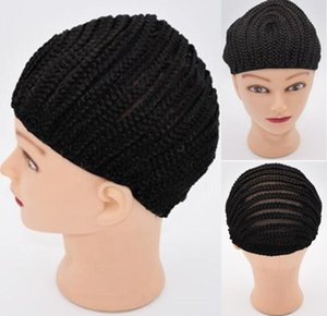 Brand New Crochet Wig Cap Easy Sew In Cornrow Casquillo de la peluca para hacer pelucas Stretching 52-66Cm Super Ealstic Cornrow Cap Black