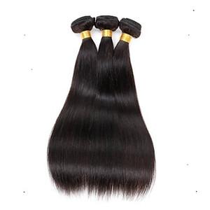 Shop Rabatt Malaysian Virgin Straight Hair Extension 100% Echthaar Weben 6a unverarbeitete Double Schuss Haarverlängerungen