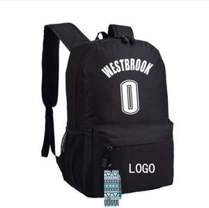 0 عدد العلامة التجارية لكرة السلة على ظهره حقيبة مدرسية راسيل ويستبروك تشغيل daypack حقيبة مدرسية مراهق في الهواء الطلق حقيبة الظهر الرياضة اليوم