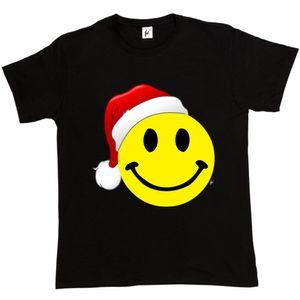 Retro Venta al por mayor Descuento Cara Wears Santa Hat Merry Christmas Xmas Crimbo Mens camiseta 2017 Marca de la camiseta de los hombres de moda Top Tee Plus Size