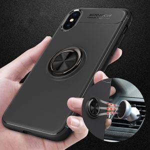 Yaratıcı Hibrid Halka Standı Tutucu Telefon Kılıfı Metal Manyetik Yüzük Standı Telefon Kılıfı Kickstand Parmak Telefon Arka Kapak Iphone için