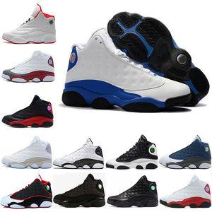 Sıcak satış haberleri adam basketbol ayakkabıları 13s sneaker Chicago'nun spor ayakkabı koyu mavi Phantom erkekler spor ayakkabı yetiştirilen Düşük Hornets spor eğitmeni