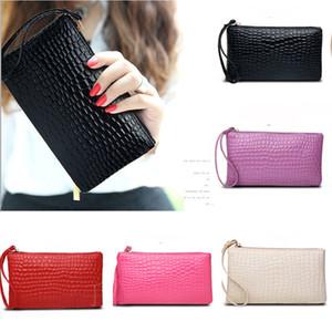 ISKYBOB Fashion crocodile women's clutch bag pu leather women envelope evening bag female Clutches Handbag bolsa feminina purse