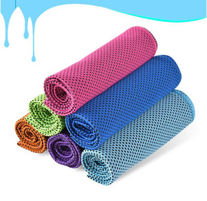 Magic Ice Cold Towel Outdoor Cooling Scarves Summer Sunstroke Sports 90*30cm Exercise Cool Quick Dry Soft Breathable fitness Cooling DHL
