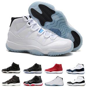 Air Jordan 11 Retro Nike AJ11 11s basquete Da Noite de Calçados para mulheres dos homens Cap e Vestido produzido concórdia ginásio vermelho Meia-calça Marinha sneakers transporte da gota