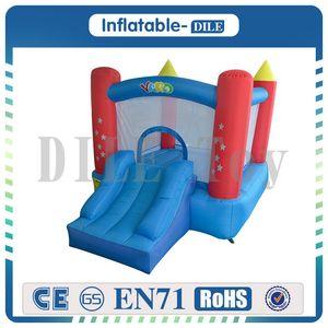 Aufblasbarer Jumper Bouncy Castle Nylon Bounce Haus Haus Trampolin Hüpfburg mit freiem Gebläse für Kinder