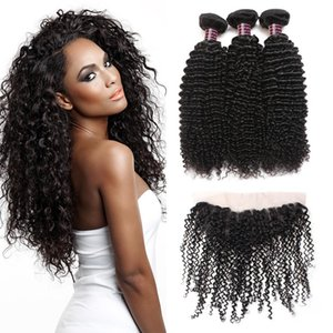 Wholesale 10A Brazilian Curly Wave 13*4 Lace Frontal Peruvian Hair 3 Bundles With Frontal Malaysian Body Wave Human Hair Extensions