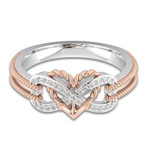 Coole marke desgin neue ankunft choucong einfache modeschmuck 925 sterling silberblack gold gefüllt büro hochzeit herz ring für frauen geschenk