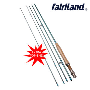 Fairiland Fly Fishing Rod 9FT 2.7M 4 Section with extra top end tip section Fishing pole 3 4# Fly Fishing Carbon Rod Saltwater Freshwater