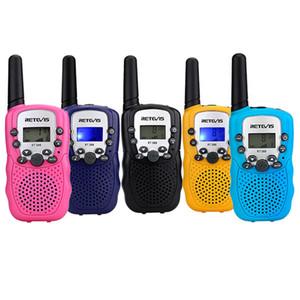 Um par de Mini Walkie Talkie Crianças Rádio Retevis RT388 RT-388 0.5 W Freqüência UHF PMR Rádio Bidirecional Portátil Presente A7027B