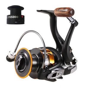 Y7375-5 12+1BB 5.1:1 Gear Ratio Lightweight Spinning Fishing Reel with Free Spare Spool for River Lake Sea