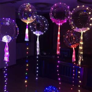 LED BOBO Balloon Colored Light Flashing Party Transparent Balloons Wedding Christmas Halloween Home Decorations Helium Air Ball