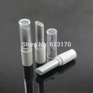 2016 New Arrival 4g Lip balm Tubes Empty lipstick tube White+SIlver tube,Clear cap,DIY Lip gloss Packing container