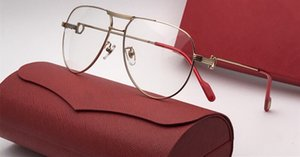 Lunettes de soleil de luxe 100072 lunettes de vue sur ordonnance cadre rond en bois hommes Designer avec étui d'origine Design rétro plaqué or