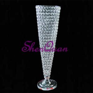 peça central do casamento do vaso do vaso de vidro da trombeta clara, peça central do casamento do vaso e arranjos de flores para venda on-line