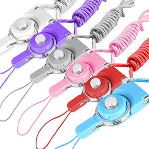 Détachable Cell Phone Strap Neck Lanyard Tressé Cou Nylon Hang Cord pour Mobile Phone Badge Caméra Mp3 USB ID Cartes Mixte Couleur pris en charge