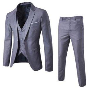 2018 Mens Suits 3 Pieces Button Groom Wedding Suits For Men Slim Formal Male Suit Business Plus Size 3Xl Black