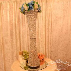 Marriage Event Top-rated crystal wedding column crystal pillar for wedding stage decoration table centerpiece flower stand