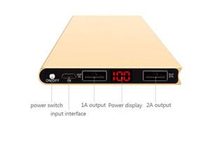 LCD 20000mah Solar Power Bank 2USB batterie de banque d'alimentation externe chargeur mobile pour Samsung Xiaomi Huawei