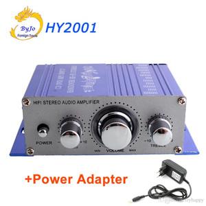 HY2001 Mini Amplificador Auto Car Estéreo Amplificador de potencia HiFi Audio CD DVD MP3 Reproductor duradero Amplificador de potencia para automóvil con adaptador