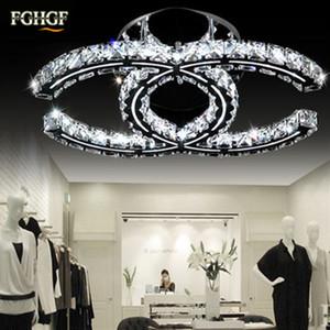 Luminaria de techo de lujo con luces de araña de techo de cristal LED K9 Lámparas de techo de cristal lustres de cristal para sala de estar restaurante