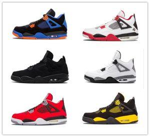 Top Travis Houston Blue 4 Raptors 4s Homens Basquete Sapatos Alternativos Puro Dinheiro Cimento Cimento Criado Fogo Vermelho Feard Esportes Sneaker Speaker Speaker Sapatilhas