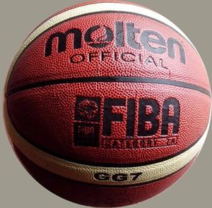 Hot Molten GG7X / GL7X / GG7 PU Cuero Baloncesto al aire libre Tamaño interior 7 # PU Cuero Baloncesto Baloncesto Cesta Cesta Bola Red + Aguja de Bola