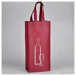 Borse Shoppong per vino rosso Claret Tessuto non tessuto Tote Pouch Square Piccolo Eco Friendly Storage Bag Economico 1 1 md2 B