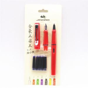 5 pcs tinta Azul Jinhao 599 todas as séries nova Listagem 2 ternos Medium fine nib fountain pen colors