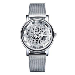 2018 New Hot Sell Brand SOXY Silver Wrist Watch Simple Style Mesh Belt Women Quartz Watches Fashion Hollow Designer Ladies Watch