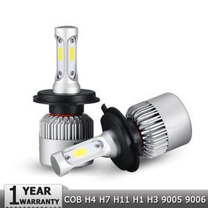 1 Paar S2 High / Abblendlicht COB Chips H7 LED Scheinwerfer Kits Auto Kopf Licht H11 Nebelscheinwerfer H13 H4 9006 mit Lüfter