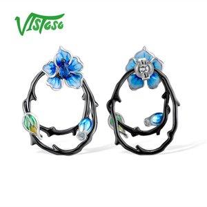 VISTOSO orecchini in argento sterling orecchini gioielli in argento sterling 925 per le donne gioielli smalto C18110801