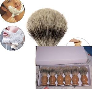 Professional barber hair shaving Razor brushes Natural Wood Handle Badger Hair Shaving Brush For Best Men Gift Barber Tool Mens Face Care