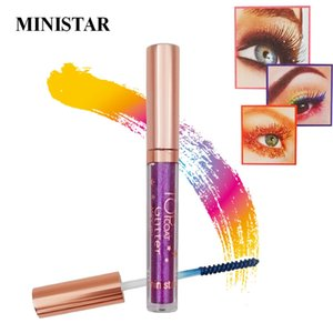 Ministar Colorful Mascara Diamond Gold Blue Hair Dye Waterproof Long Lasting Shimmer Glitter 4d Silk Fiber Eyelash Mascara