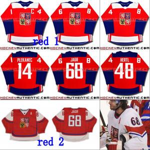 # 68 Jaromir Jagr Czech Republic WCH Team 2016 كأس العالم للهوكي جيرسي 14 Thomas Plekanec 48 Tomas Hertl Custom Hockey Jerseys